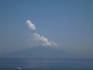 Mount Vesuvius off in the distance