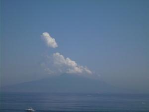 Mount Vesuvius off in the distance