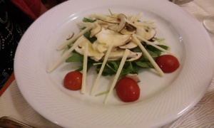 Salad made from those lovely mushrooms...yum!