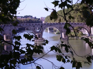 Along the Tiber River, Rome, Italy