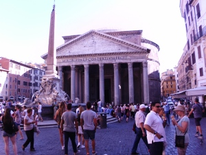 Pantheon and the Fontana del Pantheon, Rome, Italy