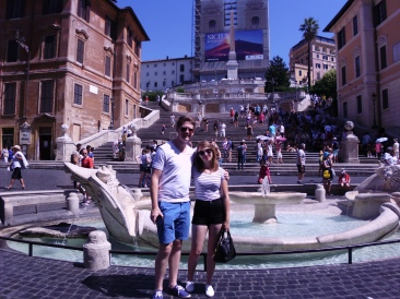Becky and Michael, Spanish Steps - Rome, Italy