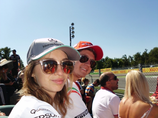 Grand Prix Race with Becky and Michael, Monza, Italy