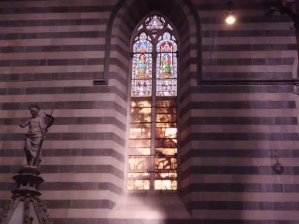 Church window in Orvietto, Italy