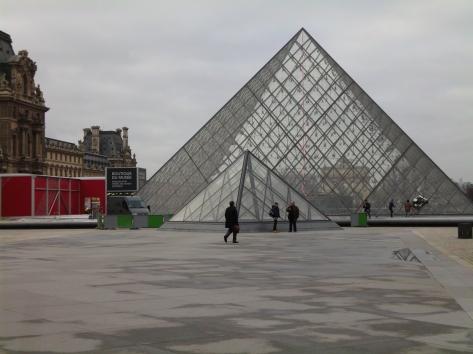 The Louvre entrance, Paris, France