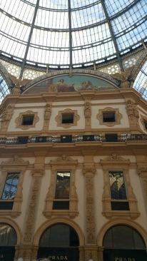 Prada store in the Galleria, Milan, Italy