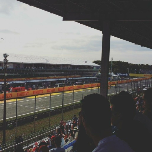 View from stands at the Grand Prix 2015