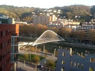 Zubizuri Bridge (Pedestrian), Bilbao, Spain