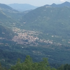 My backyard view - Italy 2015