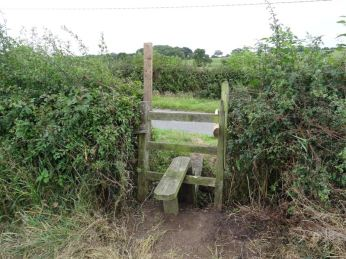 typical stile for crossing fields