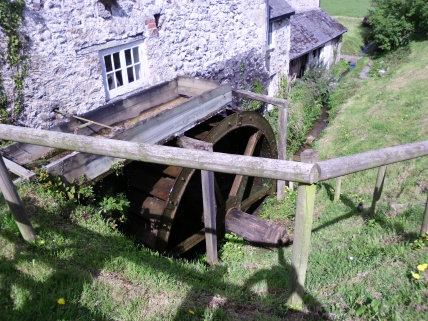 Water wheel at the Mill in Branscombe