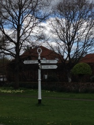 Signpost in Chawton village
