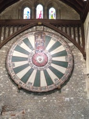 The Round Table hung in the Great Hall, Winchester