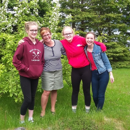 Kathryn, me, Becca and Katie