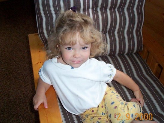 Katie (2) at her Nanny Mary's cabin